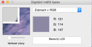 Digitální měřič barev